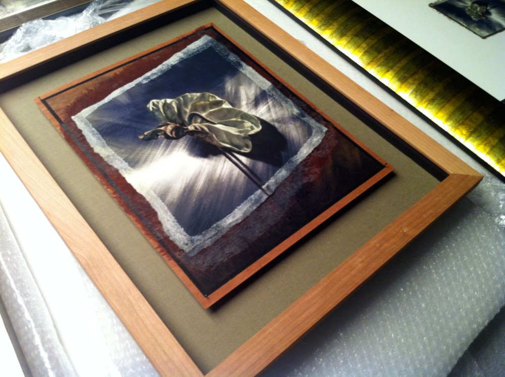 Fine art on wood with special anti reflex glass from inventor Ron de Hoog